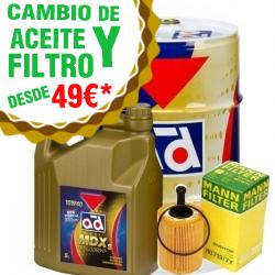 CAMBIO DE ACEITE Y FILTRO DESDE 49€